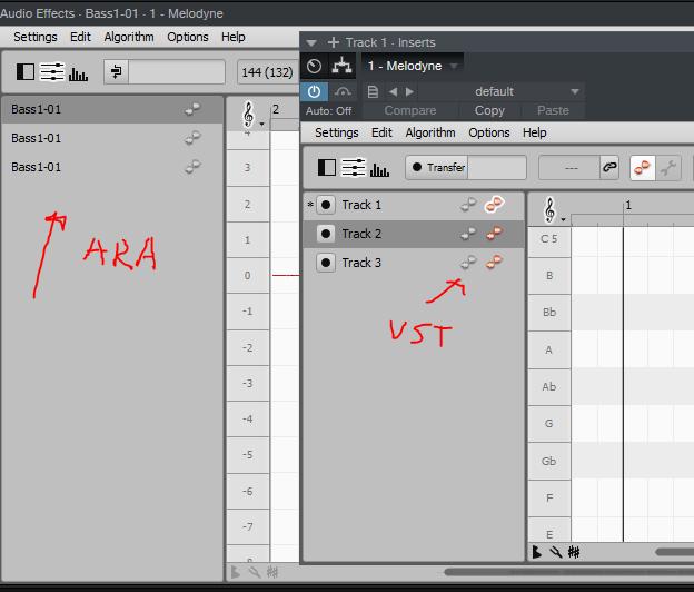 PreSonus Forums | Melodyne 4 multitrack note editing not